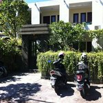 the hostel entrance