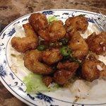 Fiery shrimp dinner