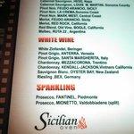 wine menu!