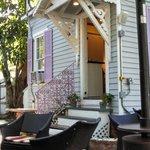 Private porch area to enjoy a conversation