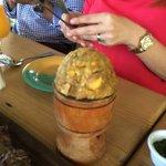 traditional food with Yuka and pork