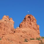 Moon over the rock