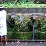 Purification prior to praying at Pura Luhur Batukaru