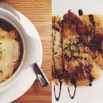 French Onion Soup, Maple Bacon & Caramelized Onion Flatbread
