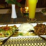 Heerlijk eten in het restaurant