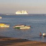 Regelmatig een Cruise schip voor anker