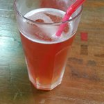 Home-made fizzy strawberry & apple drink