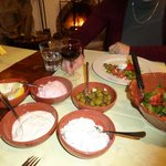 Mezze at Symposio - great tzaziki and tachini
