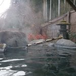 The inside of the onsen
