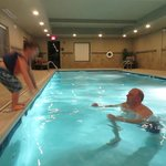 Lots of fun in this large pool!  Comfy seating for non-swimmers too.