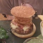 This photo does not do justice to the size of this Burger.