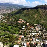 View of Diamond Head from the helicopter