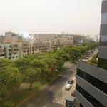 Desde la sexta planta, vistas fantásticas a la avenida principal
