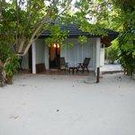 terrasse privative du bungalow