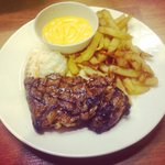 7spices striploin steak with fries & cheese #delicious #awesome