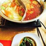 Hot Pot and dipping sauce
