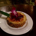 Pineapple coconut creme brulee.  Delicious!!!