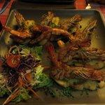Specially made prawn starter!