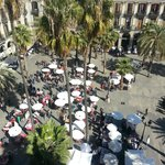 View from public terrace onto Placa Reial