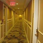 Korridor utanför rummet.
