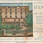 Hotel Park - one of the oldest hotels in Hvar - vintage postcard