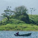 Fisherman on the lake.