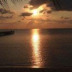 coucher de soleil depuis notre villa