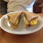 Sausage egg & cheese delish!