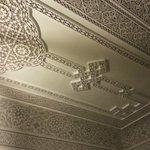 Plafond sculté
