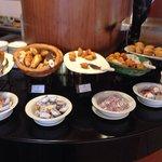 Il buffet per la colazione