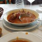 Sopa de marisco muy rica