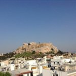 Acropoli view from roof top cafe