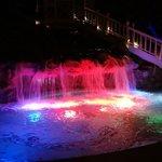 Waterfall of main pool at night