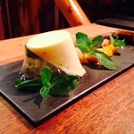 Lemon mint and Prosecco Pannacotta with citrus compote and biscotti