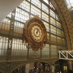 Elaborate old train-station clock