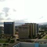 Vista panorâmica de cima do hotel