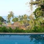 Vue depuis la piscine privative (bungalow en hauteur)
