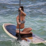 A girl enjoying the water sports
