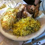Roast Chicken with Coleslaw and Rice