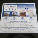 FREE Value Club Discount Card
