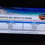 Расписание шатла на Патонг