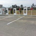 Tesla charging area