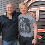 Chef Giuseppe Morisco and Gordon Ramsey