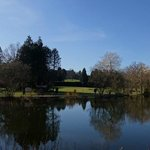 Nidd Hall grounds with BLUE SKIES