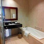 Marble wall and floor bathroom