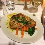 Sword fish with grilled vegetables