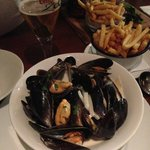 Mussels with cream and shallot
