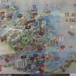 Map of St. Julian's.