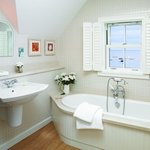 One of the lovely bathrooms overlooking the beach
