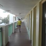Walkway outside rooms in the 1000's